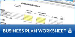 button business plan worksheet